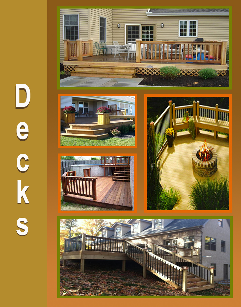 Jake's Property Services deck crew can build any size deck. We work with treated lumber, cedar and all kinds of composite decking material.