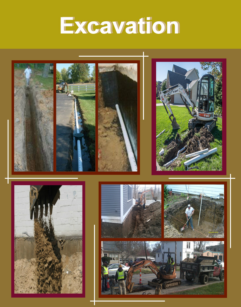 Jake's Property Services Excavating team is well equipped with the right machinery to make quick work of your next Excavation project. We excavate for trenching water, gas, sewer, electric lines and more.