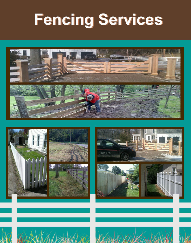 Fencing Services - Whether you need help repairing an existing fence, or you would like to install a brand new one, we have the right crew and equipment to handle any size job!